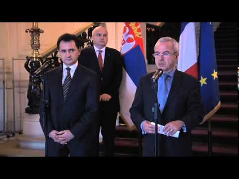 Jean Leonetti et  Bozidar Djelic, vice-Premier ministre de Serbie (01.12.11)
