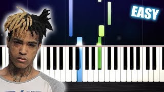 XXXTENTACION - changes - EASY Piano Tutorial by PlutaX