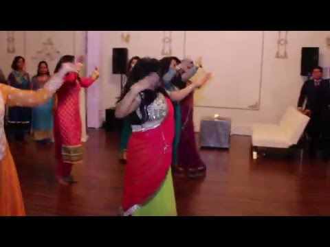 Surprise Indian group dance at wedding reception
