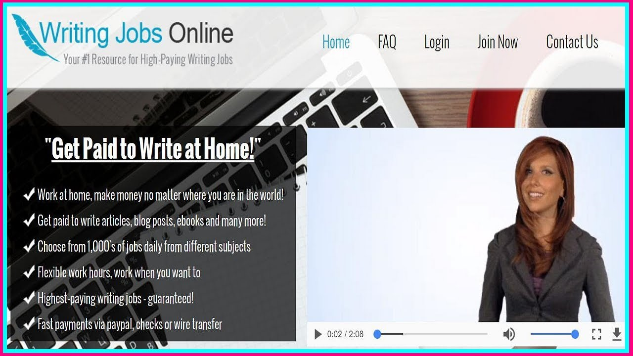 home based writing jobs Writing can be a very profitable skill to have it's a skill that not everyone has and machines can't replace therefore, if you consider yourself a decent writer, you can.
