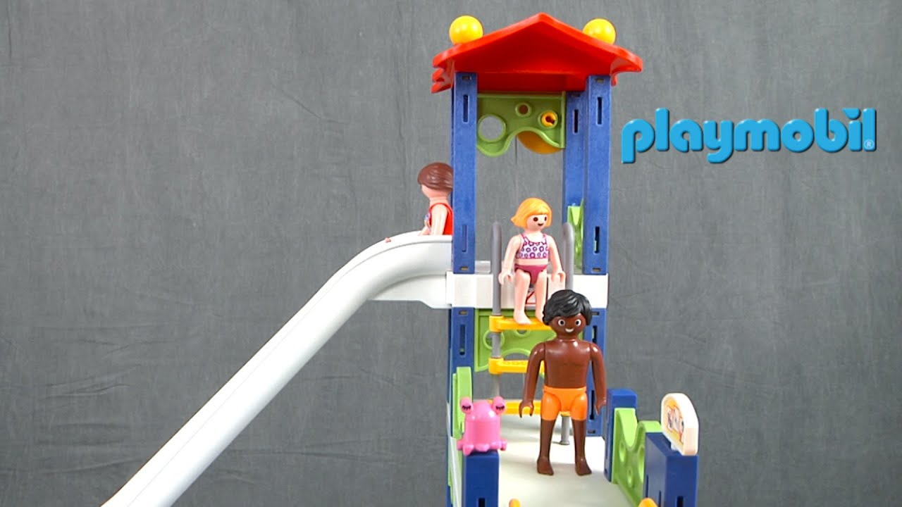 Marvelous Water Park With Slides From Playmobil