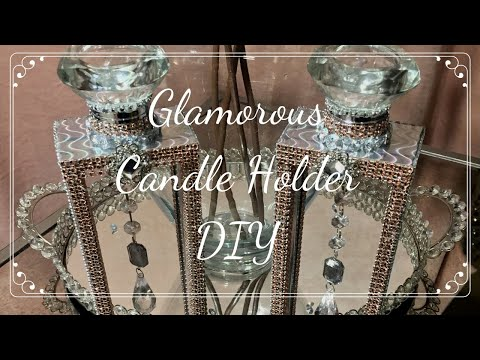 💎 Glam Dollar Tree DIY | Z Gallerie Inspired Candle Holders 💎