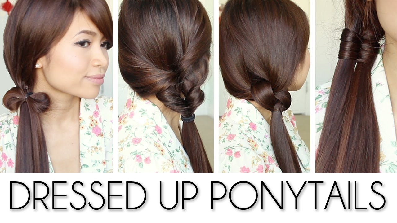 back to school ponytail hairstyles for medium long hair tutorial