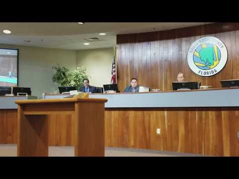 Commissioner Rob Williamson speaks about David Hammond's impact on Santa Rosa County