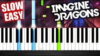 Imagine Dragons - Natural - SLOW EASY Piano Tutorial by PlutaX Video