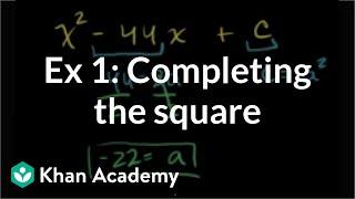 Example 1: Completing the square | Quadratic equations | Algebra I | Khan Academy thumbnail