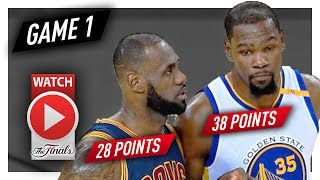 LeBron James vs Kevin Durant Game 1 MVP Duel Highlights (2017 Finals) Cavaliers vs Warriors - EPIC