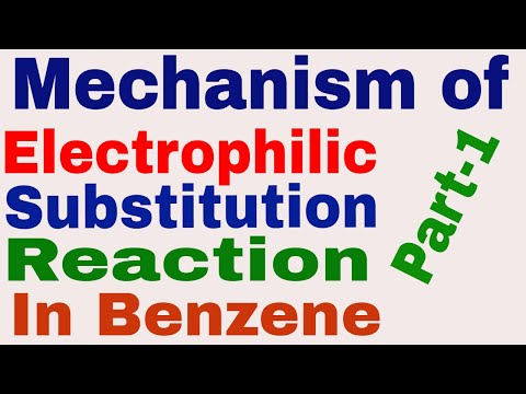 Mechanism of Electrophilic Substitution Reaction In Benzene || Part 1