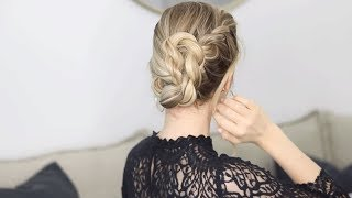 Aveda How-To | Braided French Twist Festive Updo Tutorial with Alex Gaboury