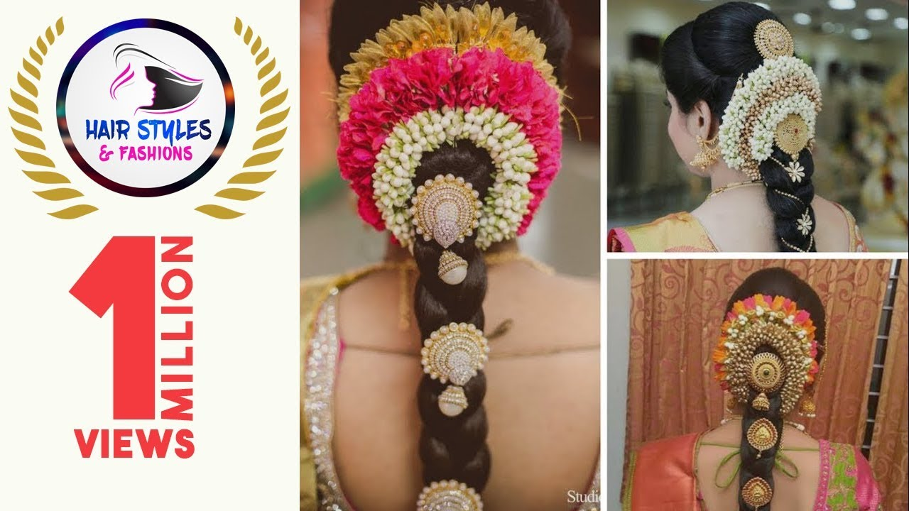 Wedding Hairstyle Step By Step Poolajada With Flowers Bridal