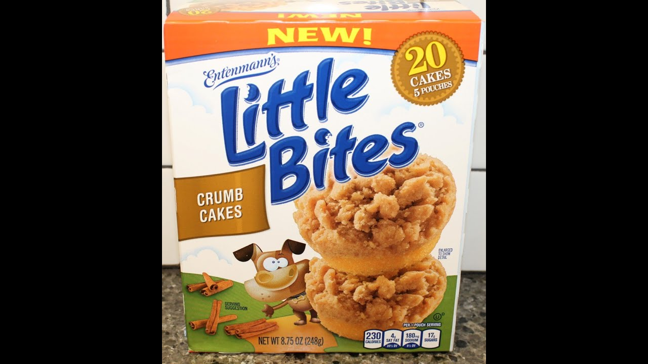 Entenmanns Little Bites Crumb Cakes Review YouTube