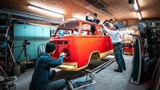 Wir beginnen mit den Schweißarbeiten! VW Bulli T2 schweißen