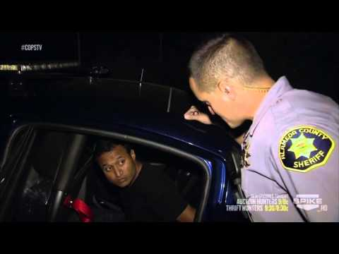 Cop pulls over Indian guy who has meth, a pipe, a hooker, and tons of excuses