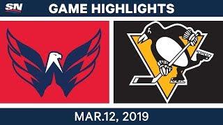 NHL Highlights   Capitals vs. Penguins – Mar 12, 2019