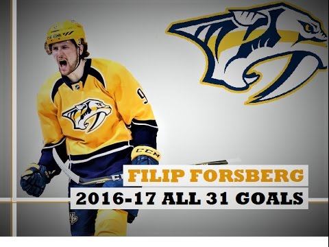 Filip Forsberg (#9) ● ALL 31 Goals 2016-17 Season (HD)