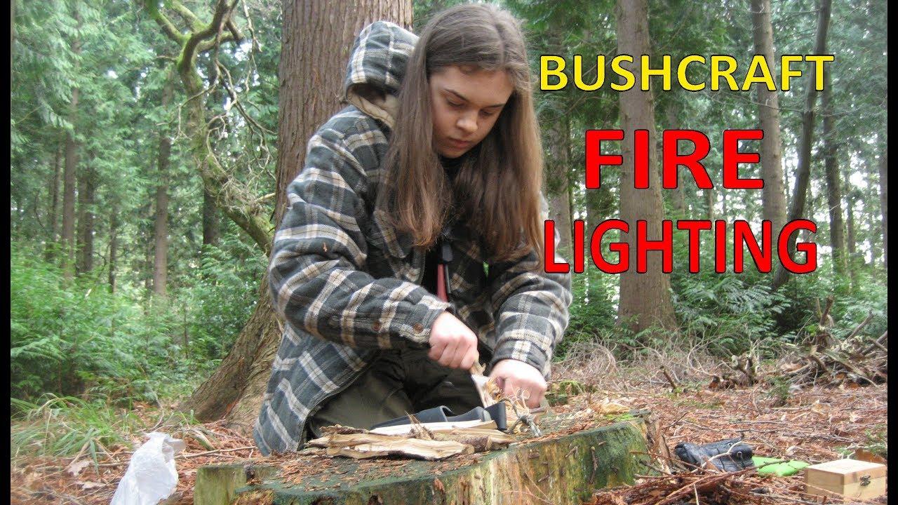 Bushcraft Fire Lighting Materials Methods