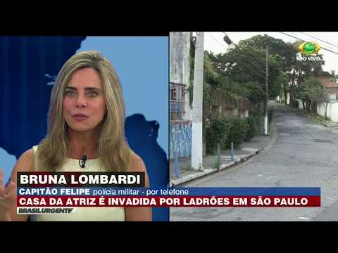 SP: Casa Da Atriz Bruna Lombardi é Invadida Por Ladrões