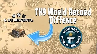 TH9 (Town Hall 9) World Record Diffence | Th9 Mega Troll War Base - clash of clans