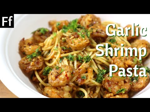 Spicy Butter Garlic Shrimp Pasta Recipe | Prawn Pasta