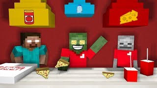 Monster School WORK AT A PIZZA PLACE Minecraft Animation
