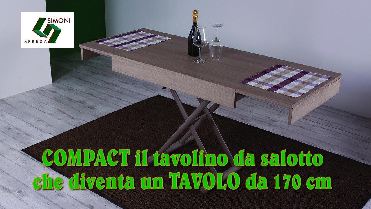 Tavolino Trasformabile COMPACT | Il tavolo saliscendi - YouTube