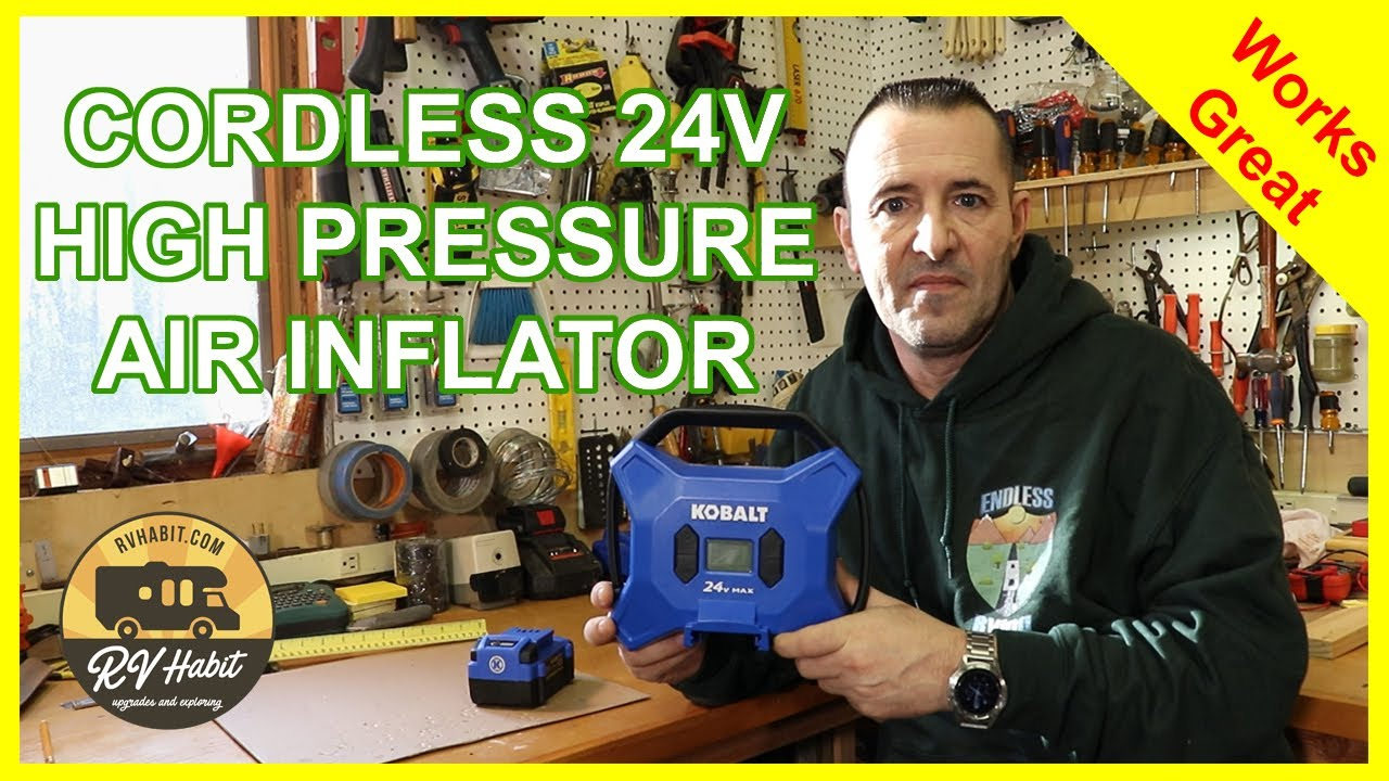 Cordless High Pressure Inflator Air Pump for Car, Truck, and RV Tires – Kobalt 24v - Review