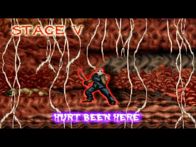 Splatterhouse-2-Journey Through Hell Modo Historia Nivel 4