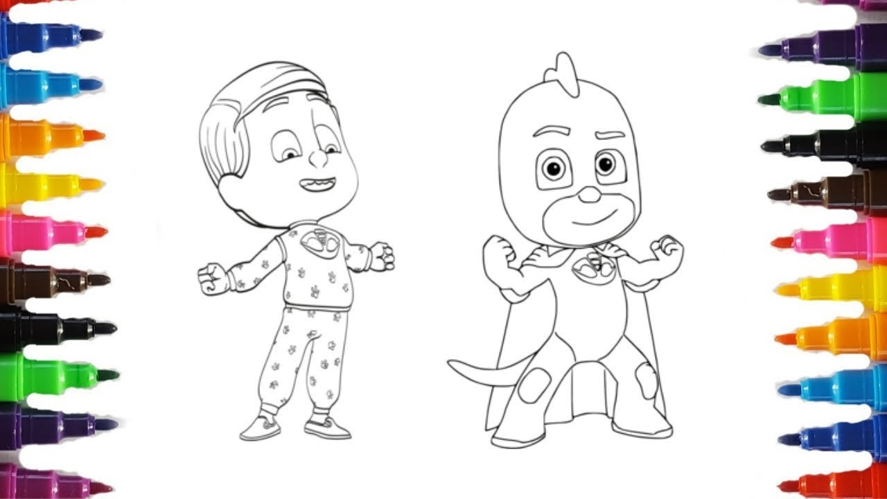 PJ MASKS Coloring Pages | Coloring Catboy, Owlette and ...