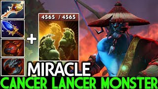 MIRACLE [Phantom Lancer] Epic Cancer Lancer Monster 4K HP Rapier Build 7.23 Dota 2