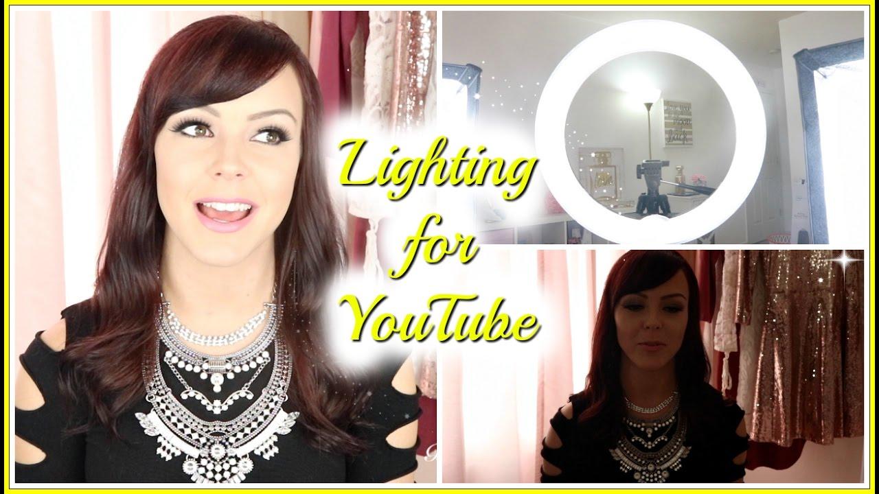 best lighting for beauty youtube videos