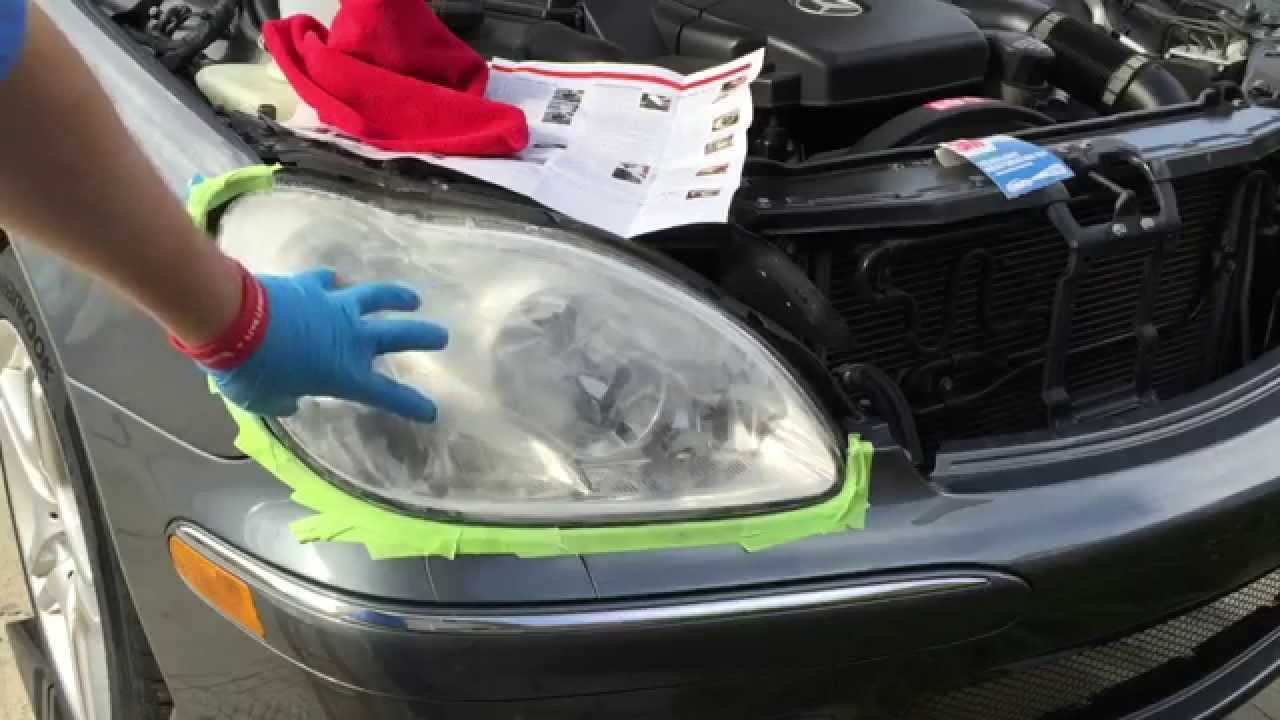 3m headlight restoration kit mercedes benz s500  [ 1280 x 720 Pixel ]