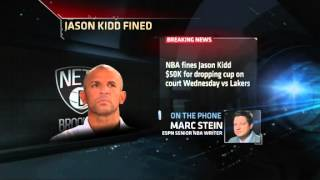 NBA Fines Jason Kidd $50K For Spill