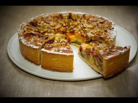 recette-de-la-tarte-pêches-pistaches-amandes-100%-maison