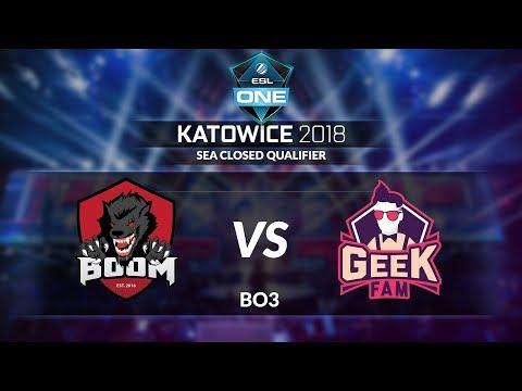 BOOM.ID(Indonesia) vs GEEKFAM (Malaysia) (BO3) @ESL One Katowice - SEA Closed Qualifier