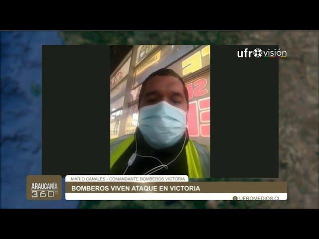 Atacan a bomberos en Chile