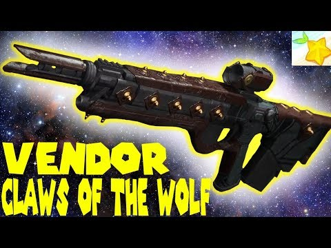 Insane fire rate!! Vendor roll CLAWS OF THE WOLF review - Destiny 2 thumbnail