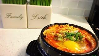 korean kimchi tofu soup soondubu jjigae