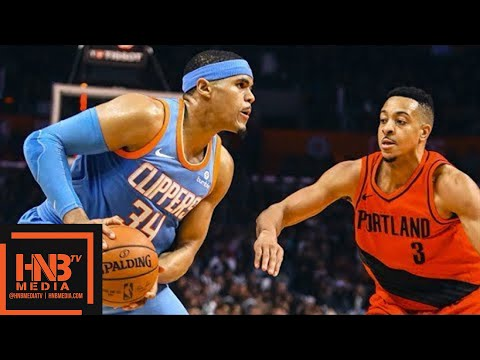 LA Clippers vs Portland Trail Blazers Full Game Highlights / March 18 / 2017-18 NBA Season