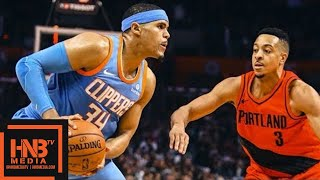 LA Clippers vs Portland Trail Blazers Full Game Highlights / March 18 / 2017-18 NBA Season