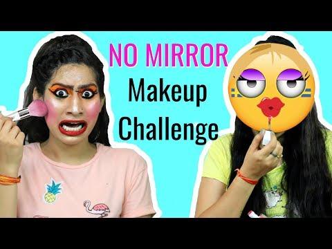 NO MIRROR Makeup Challenge + A BIG Surprise | Anaysa