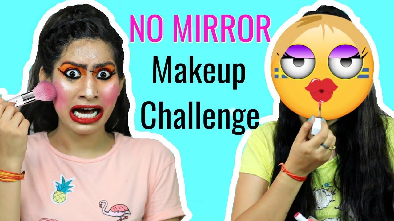 e0108820d7b NO MIRROR Makeup Challenge + A BIG Surprise | Anaysa - YouTube