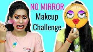 NO MIRROR Makeup Challenge + A BIG Surprise | Anaysa
