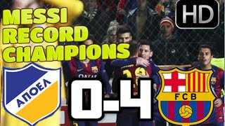 Video Gol Pertandingan FC Barcelona vs APOEL
