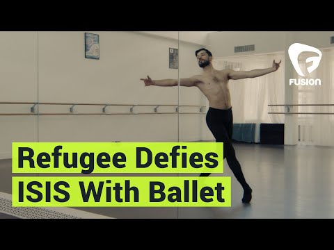 Refugee uses ballet to create a message of peace
