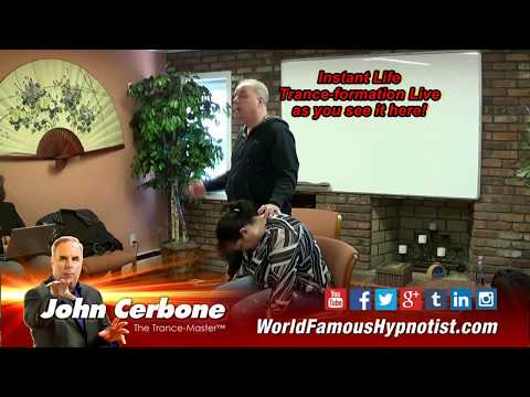 Hypnotist John Cerbone Demos his Speed Induction & Instant Life Trance-Formation method.