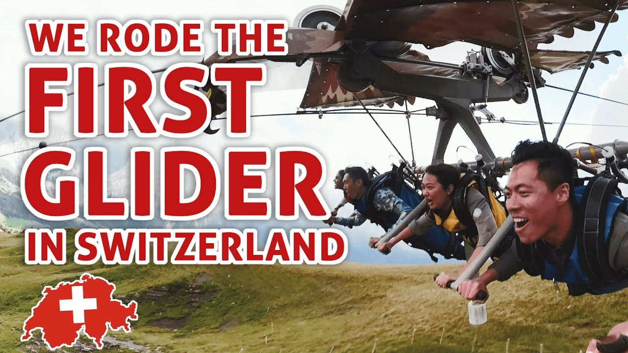 EXPLORING SWITZERLAND PART 2: FIRST GLIDER + MOUNTAIN COASTER + PARAGLIDING   TSL Vlogs