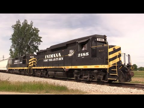 A Day on the Indiana Northeastern Railroad: EMD GP30s and More!