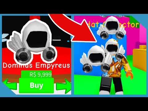 Buying Dominus Empyreus And Making Millions In Roblox Hat Simulator