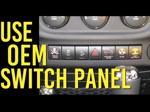 use the oem switch panel on your jeep jk hidden garage door button Red Jeep Wrangler 2015 Interior use the oem switch panel on your jeep jk hidden garage door button