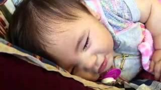 Sleep talking baby